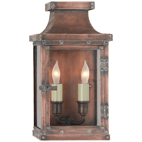 Bedford Small 3/4 Lantern in Natural Copper