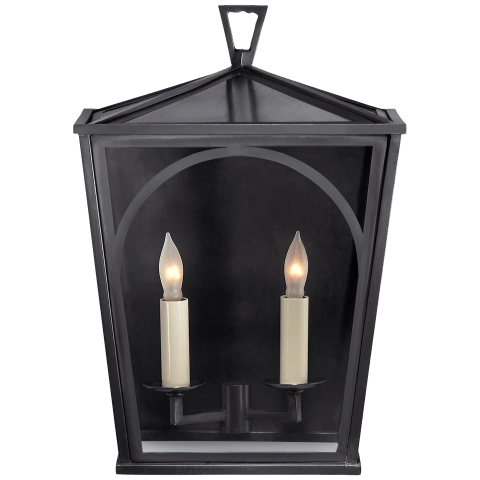 Darlana Arc Small Sconce in Bronze with Clear Glass