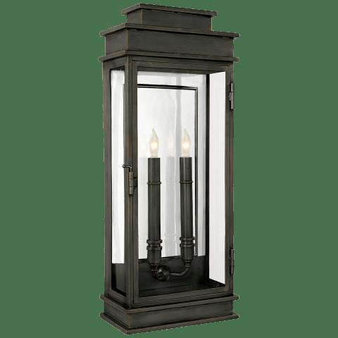 Linear Lantern Tall in Bronze