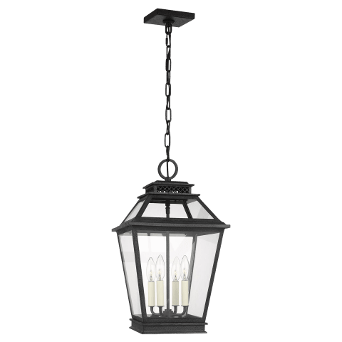 Falmouth 4 - Light Hanging Lantern Dark Weathered Zinc