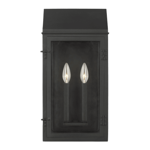 Hingham Large Outdoor Wall Lantern Textured Black