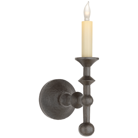 Harlow Tail Sconce in Aged Iron