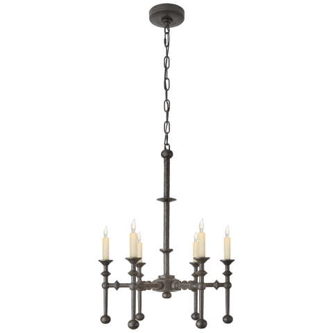 Harlow Medium Chandelier in Aged Iron