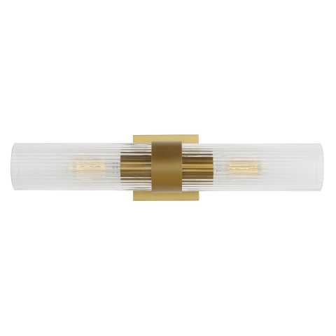 Geneva Linear Sconce Burnished Brass