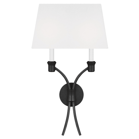 Westerly Double Sconce Smith Steel