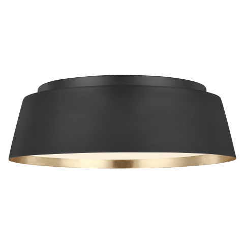 Asher 3 - Light Flush Mount Midnight Black
