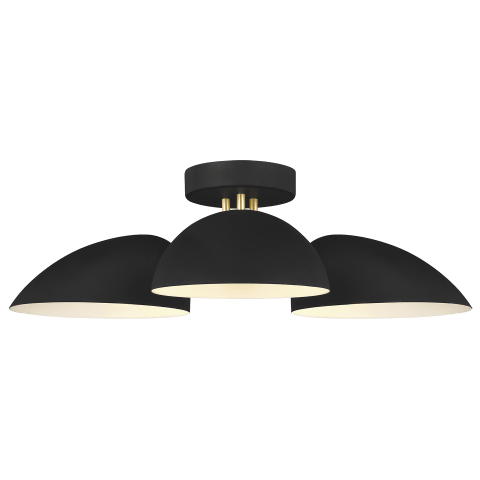 Jane 3 - Light Flush Mount Midnight Black