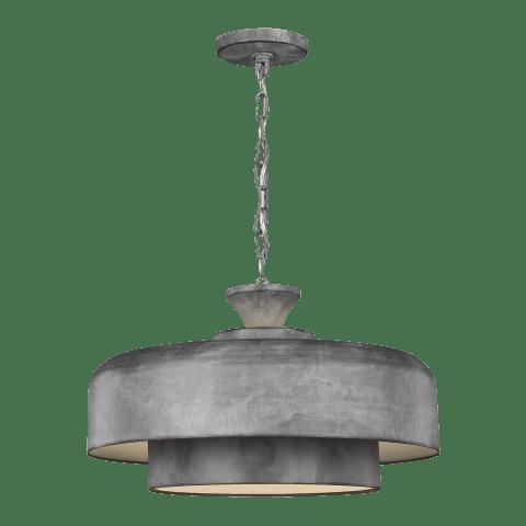 Haymarket 1 - Light Pendant Weathered Galvanized