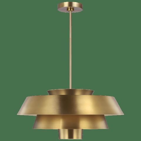 Brisbin Large Pendant Burnished Brass