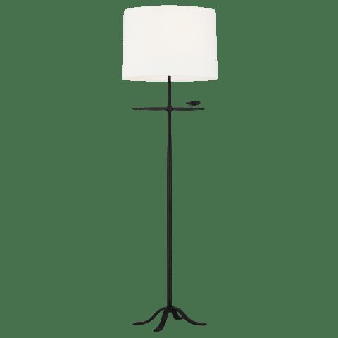 Caroline 1 - Light Floor Lamp Aged Iron Bulbs Inc