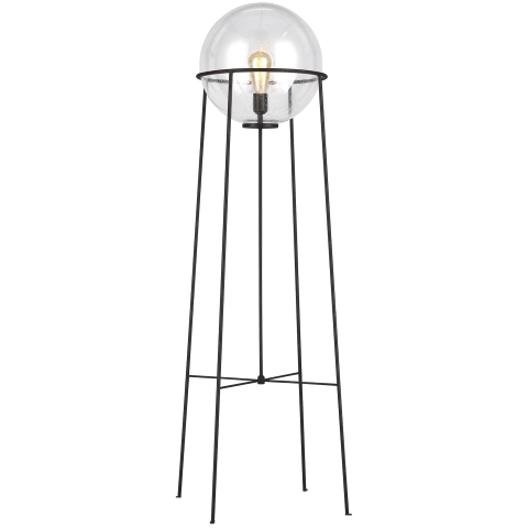 Atlas 1 - Light Floor Lamp Aged Iron Bulbs Inc