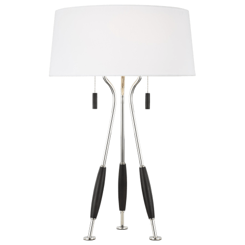 Arbur Table Lamp Polished Nickel Bulbs Inc