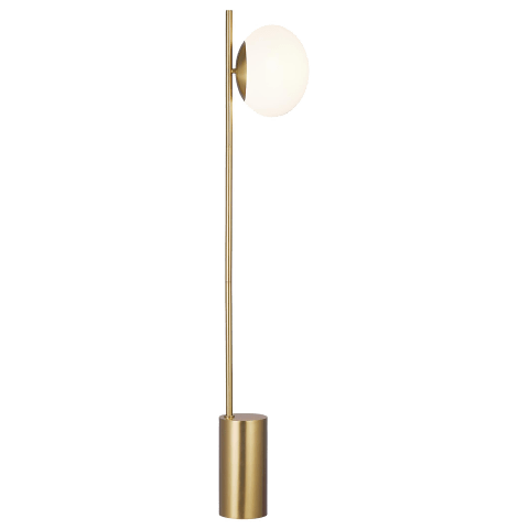 Lune Floor Lamp Burnished Brass Bulbs Inc