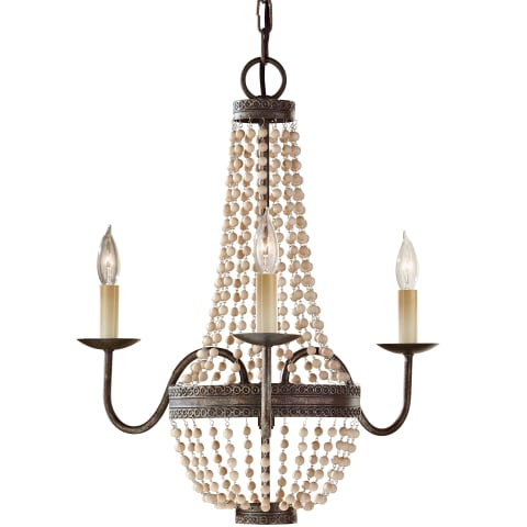 Charlotte 3 - Light Chandelier Peruvian Bronze