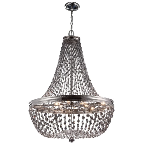 Malia 9 - Light Chandelier Polished Nickel