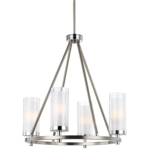 Jonah 4 - Light Chandelier Satin Nickel / Chrome Bulbs Inc