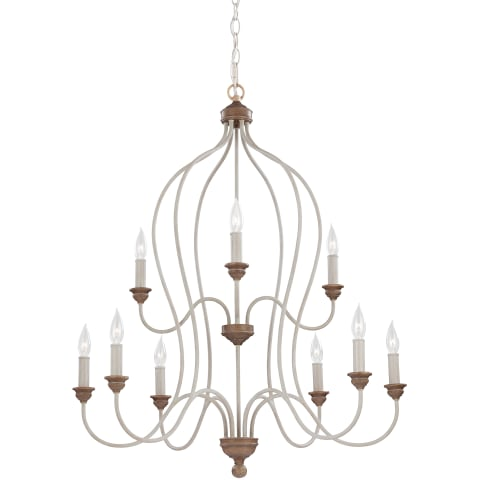 Hartsville 9 - Light Chandelier Chalk Washed / Beachwood