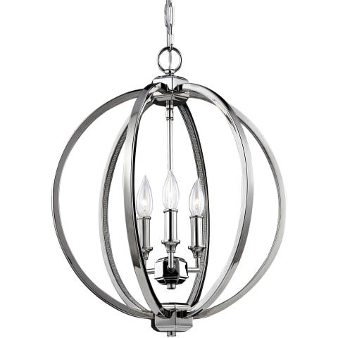 Corinne 3 - Light Globe Pendant Polished Nickel