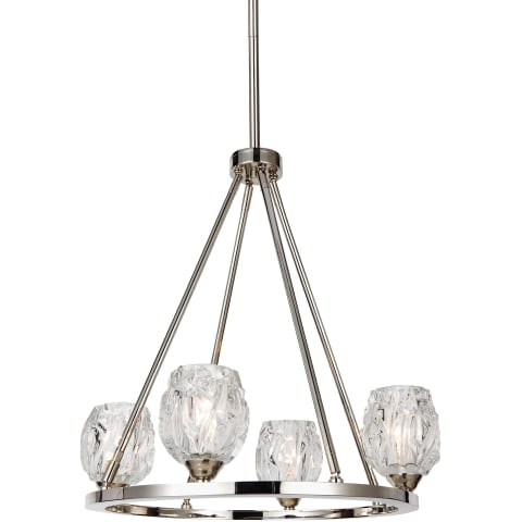 Rubin 4 - Light Chandelier Polished Nickel