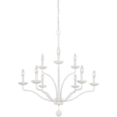 Annie 9 - Light Chandelier Plaster White