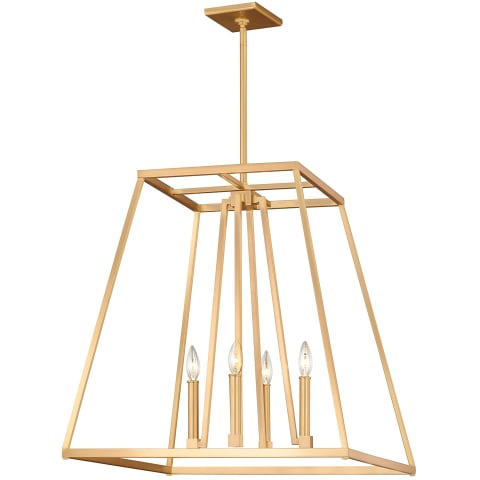Conant 4 - Light Chandelier Gilded Satin Brass