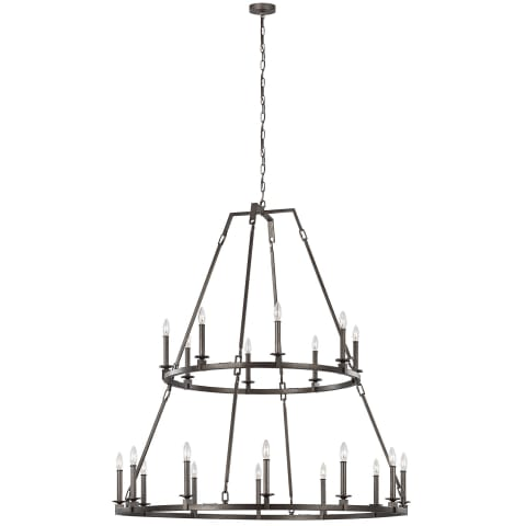 Landen 20 - Light Chandelier Smith Steel
