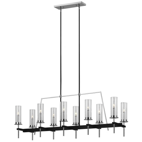 Broderick 10 - Light Linear Chandelier Textured Black