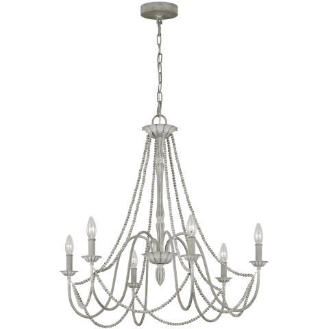 Maryville 6 - Light Chandelier Washed Grey