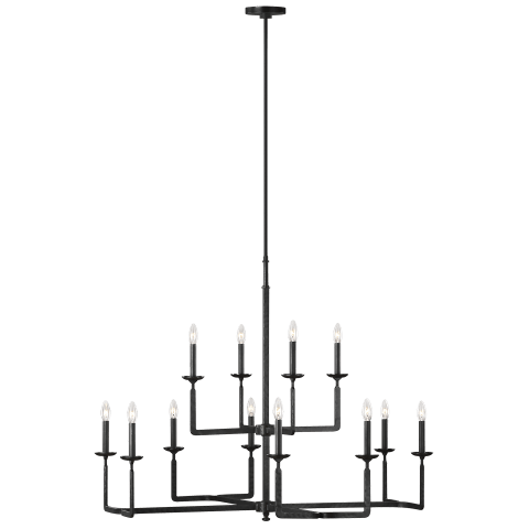 Ansley Large Chandelier Aged Iron