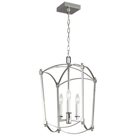 Thayer 3 - Light Lantern Polished Nickel