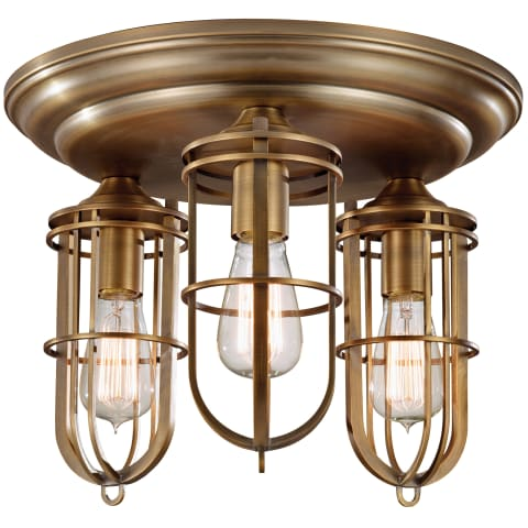 Urban Renewal 3 - Light Flushmount Dark Antique Brass