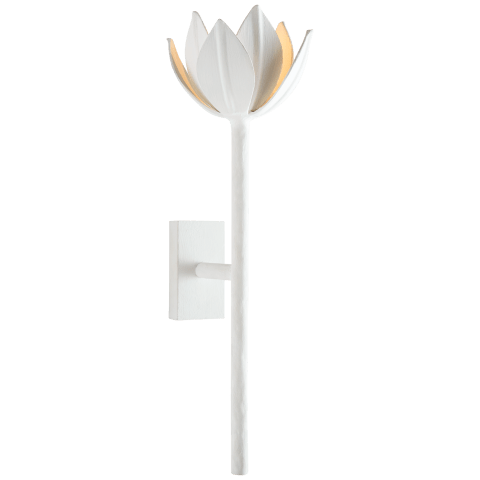 Alberto Medium Sconce in Plaster White