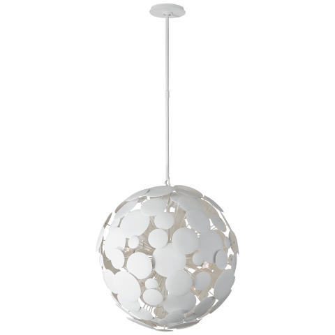 Luna Medium Chandelier in Matte White