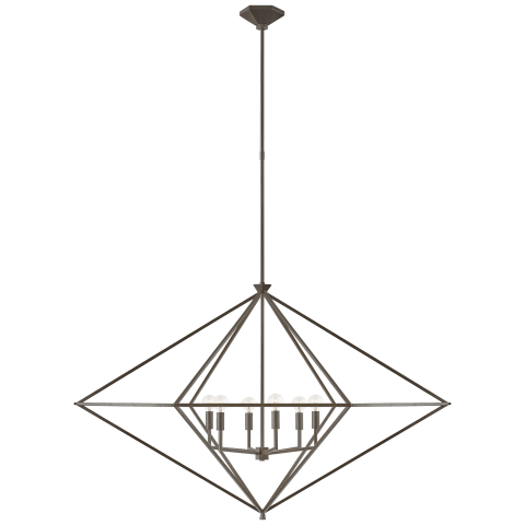 Afton Grande Linear Lantern in Aged Iron