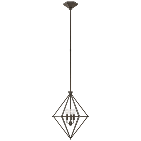 Afton Petite Elongated Lantern in Aged Iron