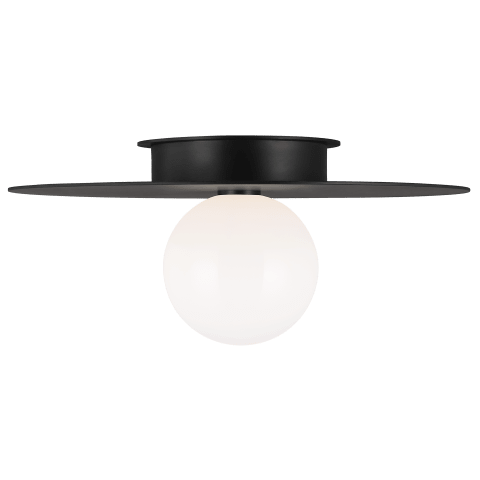 Nodes Large Flush Mount Midnight Black