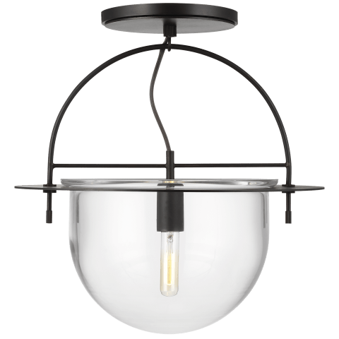 Nuance Large Semi-Flush Mount Aged Iron