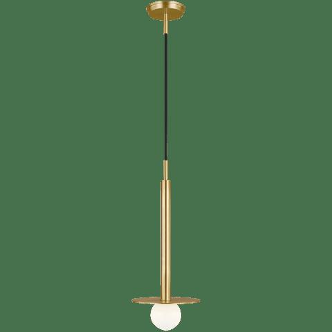 Nodes Short Pendant Burnished Brass