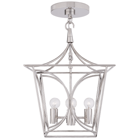 Cavanagh Mini Lantern in Polished Nickel