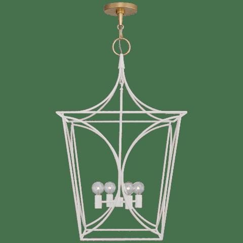 Cavanagh Medium Lantern in Light Cream and Gild