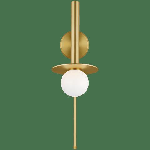 Nodes Pivot Sconce Burnished Brass