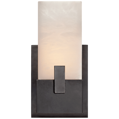 Covet Short Clip Bath Sconce in Bronze