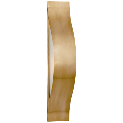 Avant Medium Linear Sconce in Antique-Burnished Brass with Frosted Glass