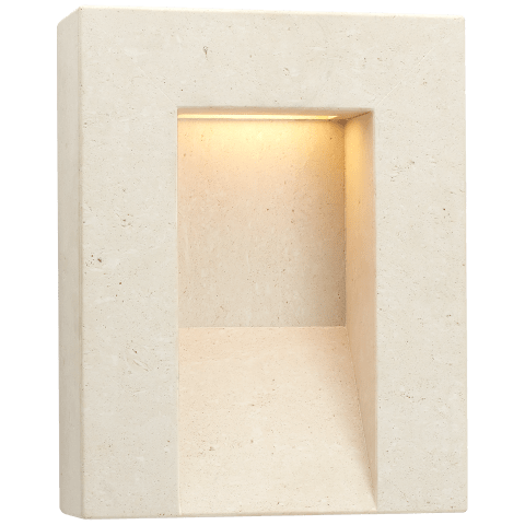 Tribute Medium Sconce in Travertine