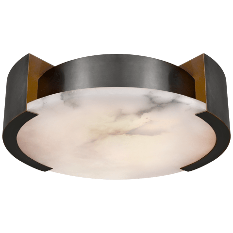 Melange Large Flush Mount in Bronze with Alabaster