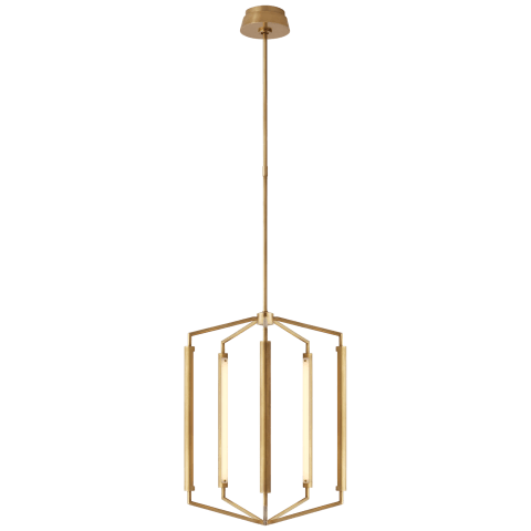 Appareil Medium Lantern in Antique-Burnished Brass