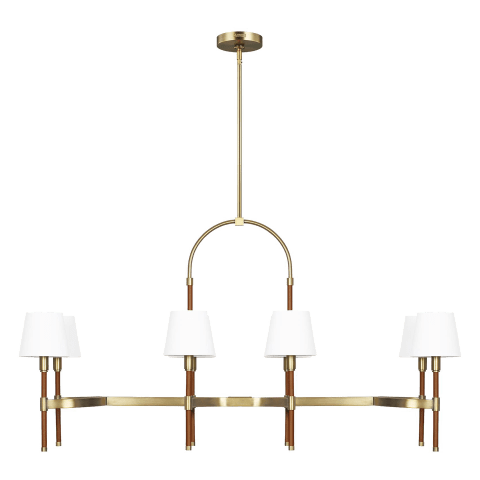 Katie Linear Chandelier Time Worn Brass