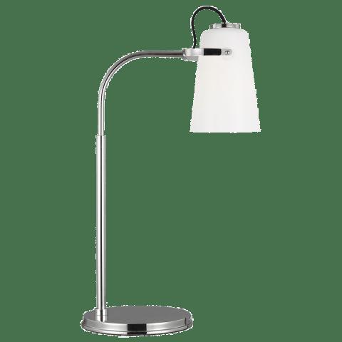 Hazel Task Table Lamp Polished Nickel Bulbs Inc