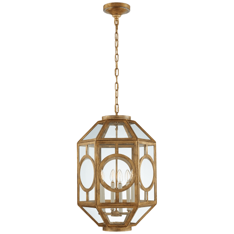 Chatsworth Lantern in Gilded Iron