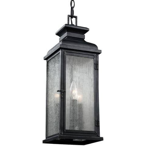 Pediment 3 - Light Outdoor Pendant Dark Aged Copper